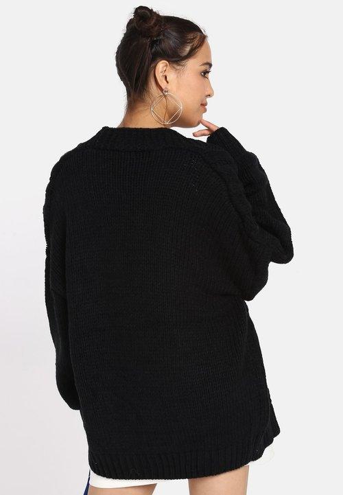 myMo Kardigan - black Odzież Damska VNJG-ZW8 oferta