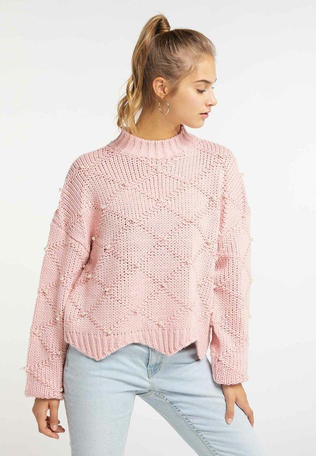 Stickad tröja - light pink