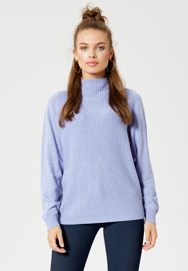 Strikpullover /Striktrøjer - purple