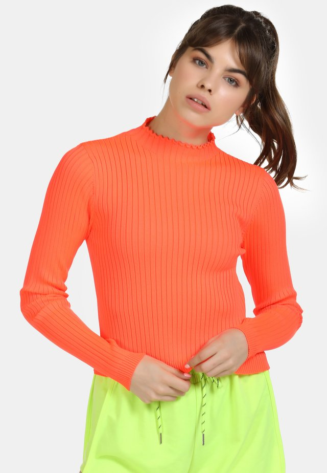 Pullover - neon orange