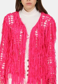 myMo - STRICKJACKE - Cardigan - neon pink - 3