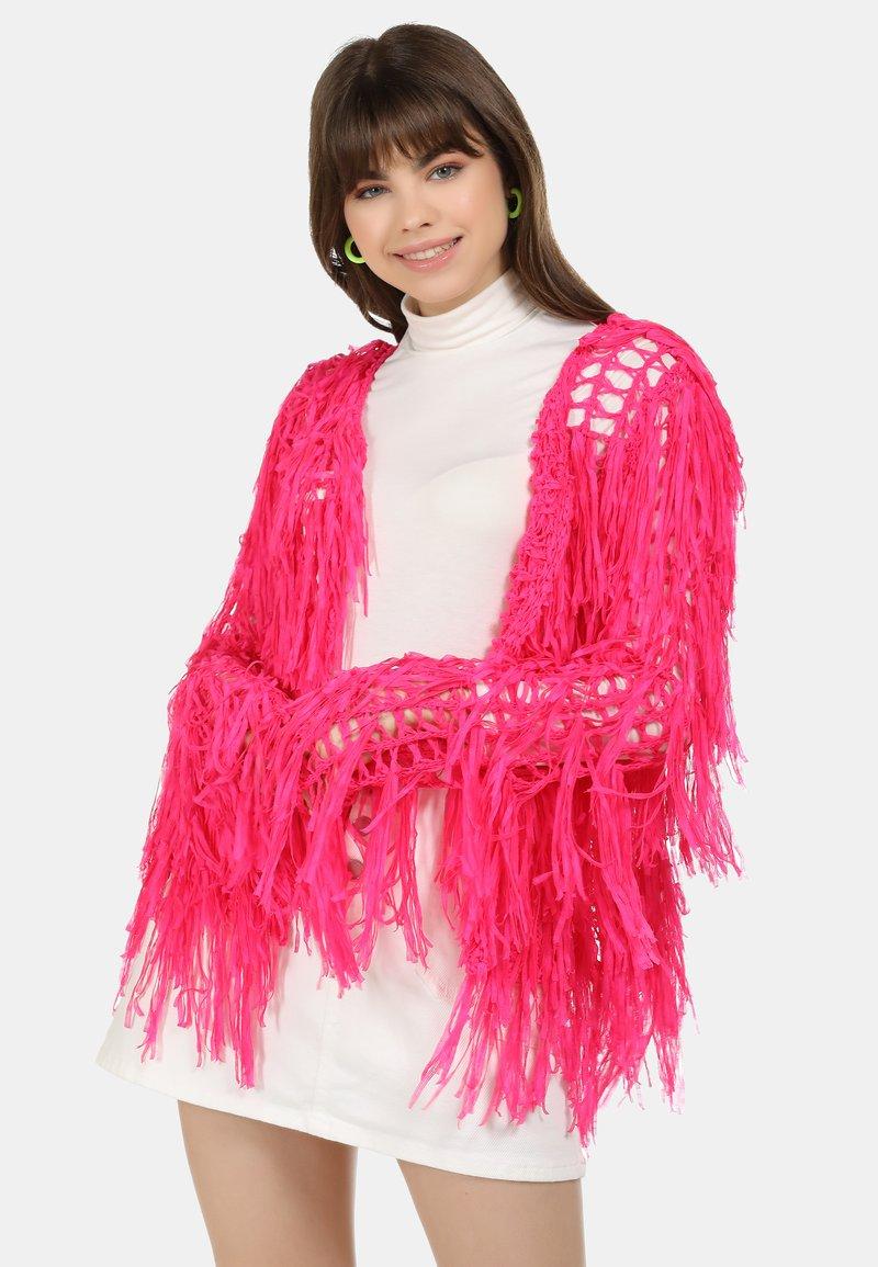 myMo - STRICKJACKE - Cardigan - neon pink