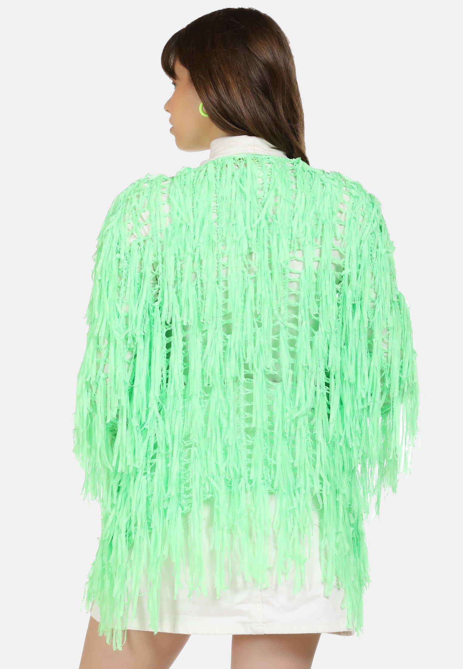 myMo STRICKJACKE - Kardigan - neon grün