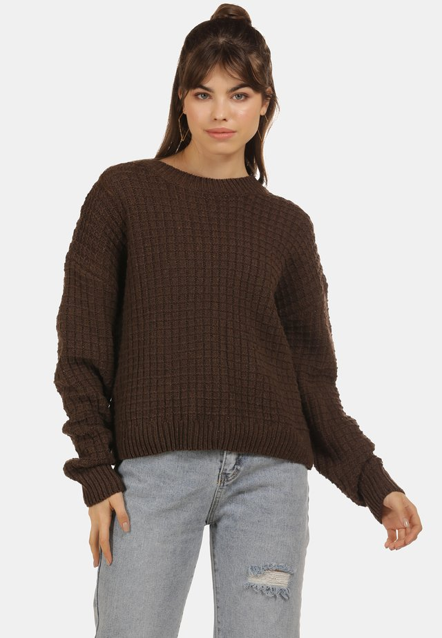 GROBSTRICKPULLOVER - Sweter - brown