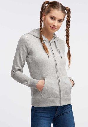 veste en sweat zippée - mottled grey