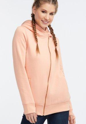 veste en sweat zippée - apricot