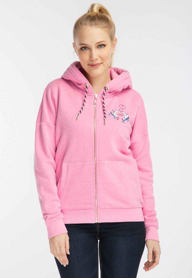 Bluza rozpinana - pink melange