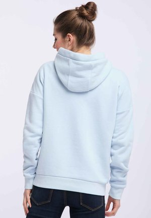 Sweat à capuche - mottled light blue