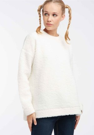 Fleece trui - cream