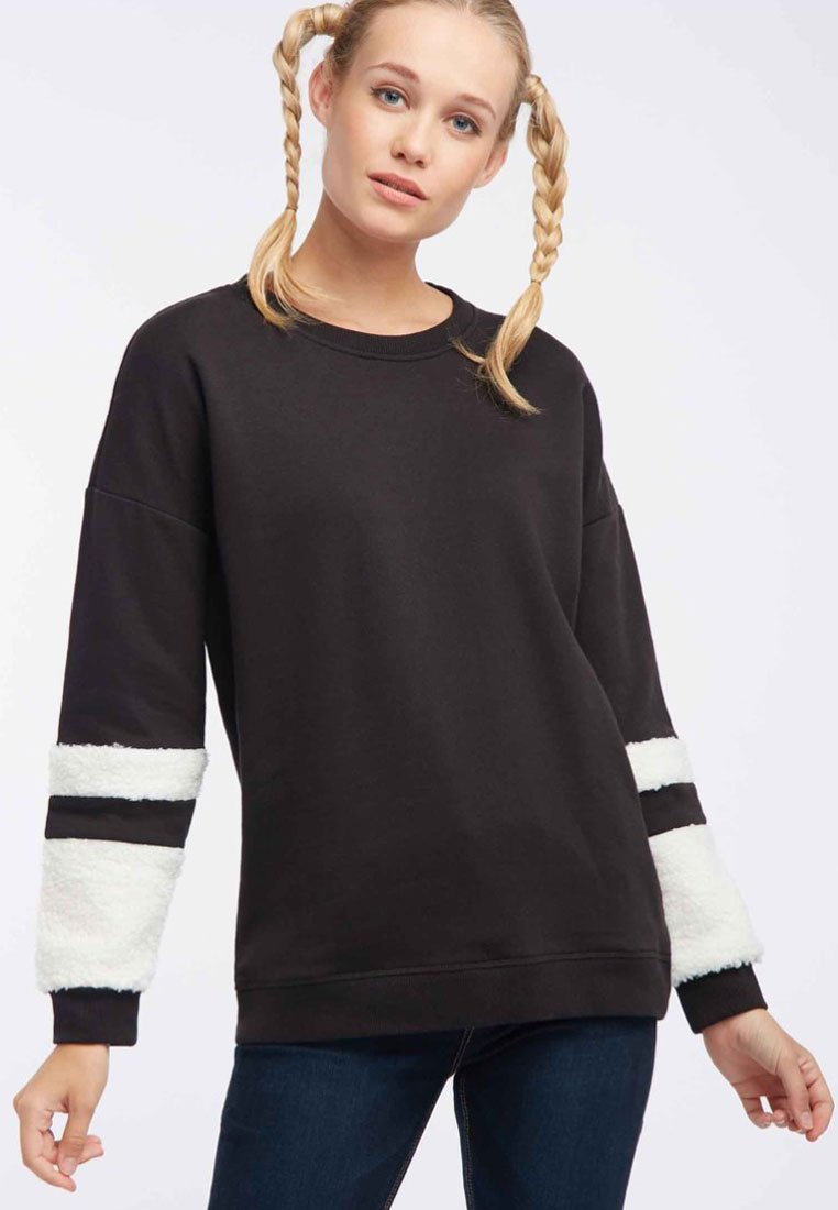 cream Sweatshirt Black Mymo Mymo Sweatshirt Black hrCtdBsoQx