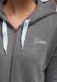 myMo - Sudadera con cremallera - mottled grey - 3