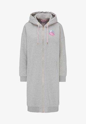 veste en sweat zippée - hellgrau melange