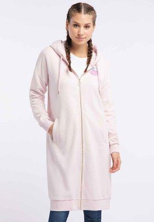 Zip-up hoodie - rosa melange