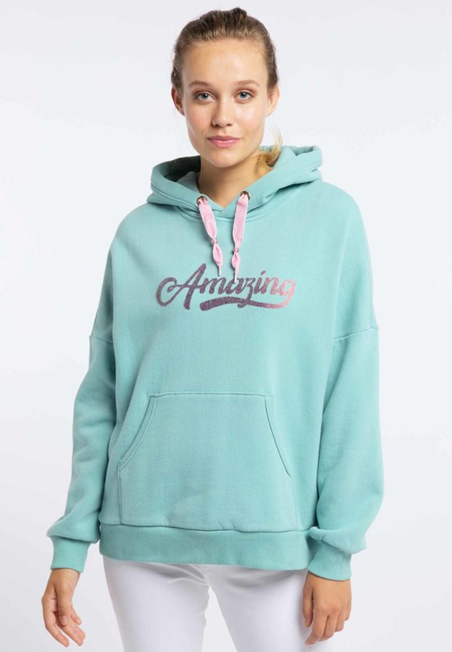 Bluza z kapturem - mint