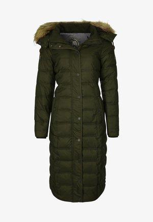 MIT ABNEHMBARER KAPUZE - Winter coat - olive