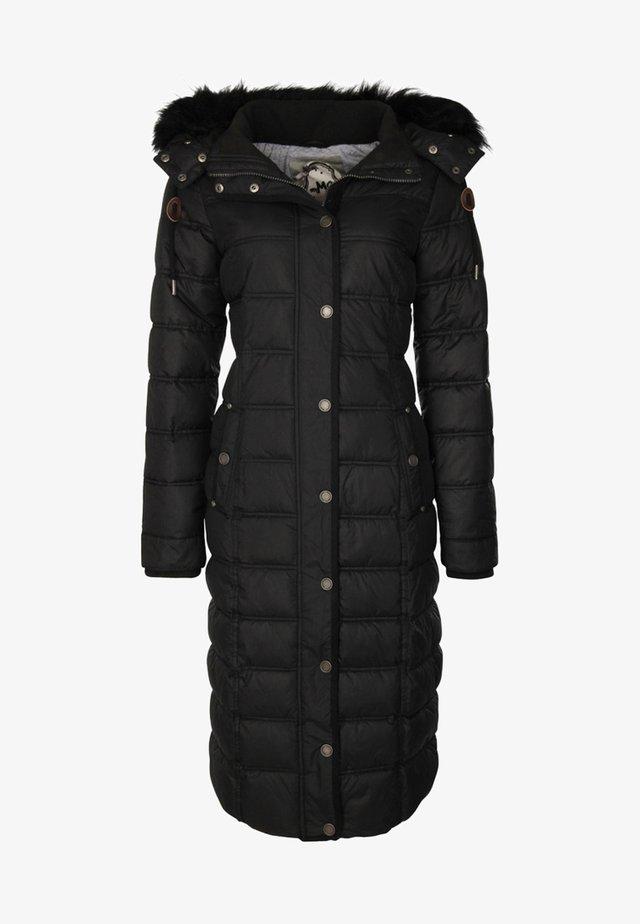 MIT ABNEHMBARER KAPUZE - Płaszcz zimowy - black