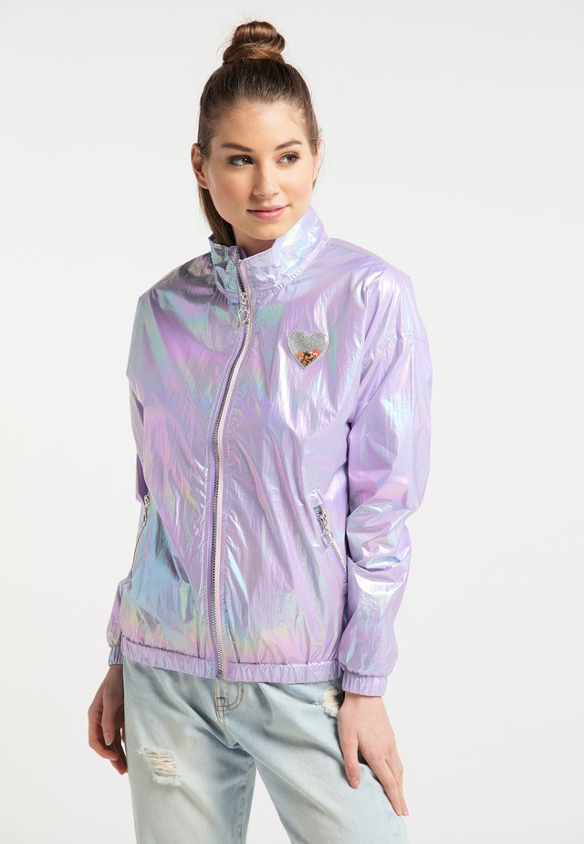 Regenjas - lilac holographic