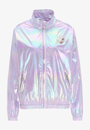 Vodotěsná bunda - lilac holographic