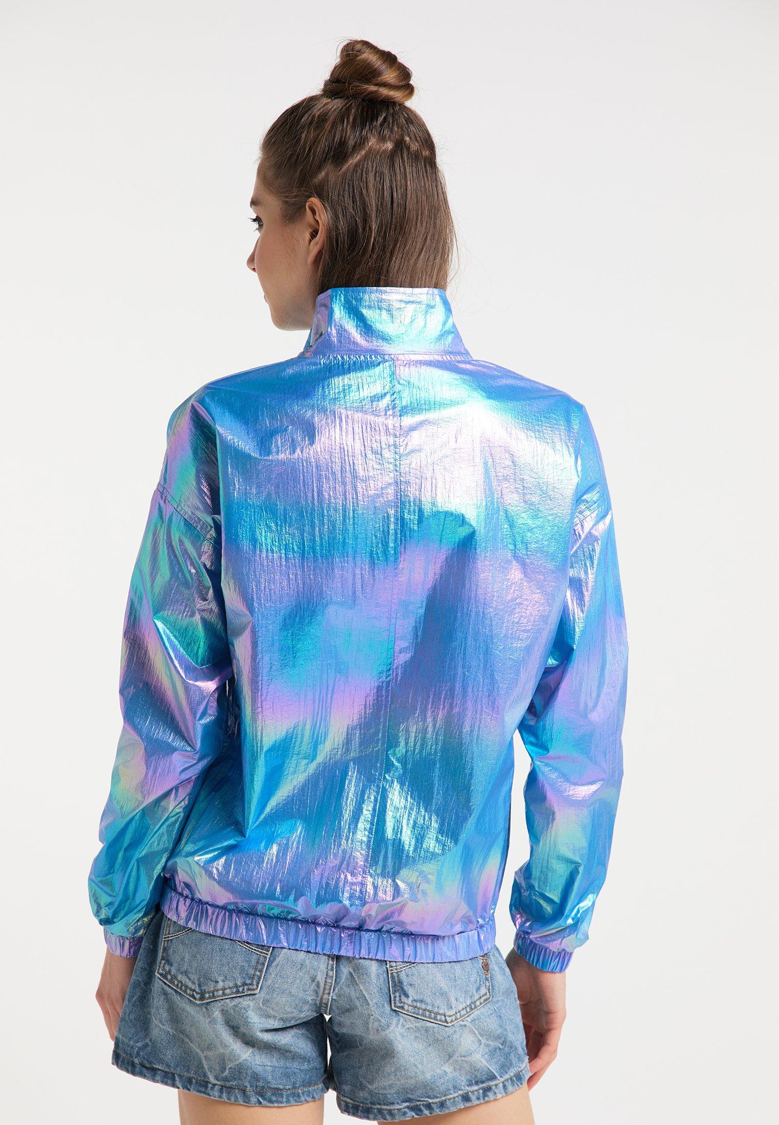 myMo Kurtka przeciwdeszczowa - blue holographic