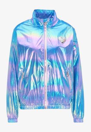 Waterproof jacket - blue holographic