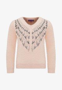 myMo - Stickad tröja - pink - 0