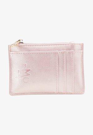 Business card holder - pink metallic