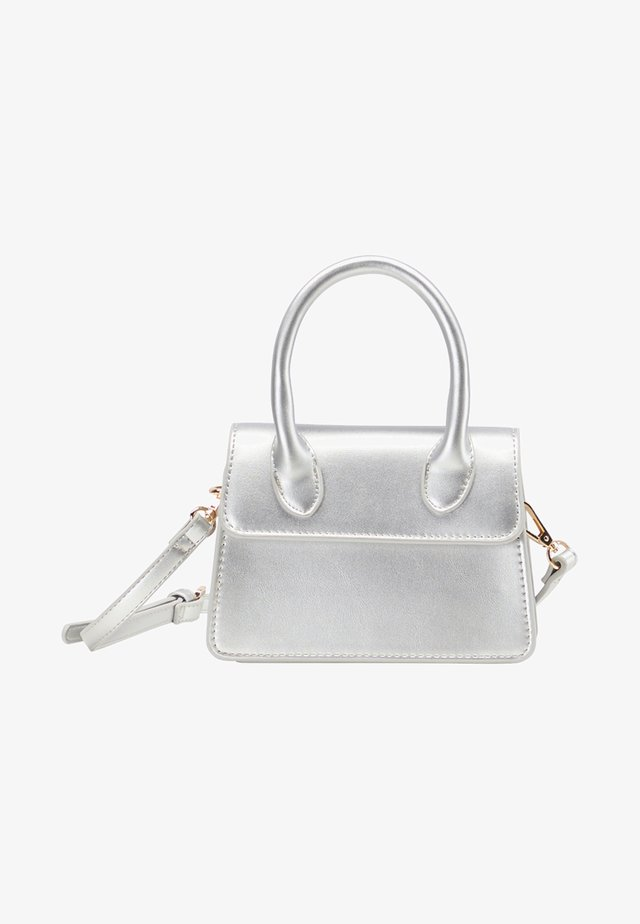 Handbag - silver metallic
