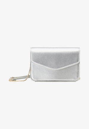 Across body bag - silver metallic