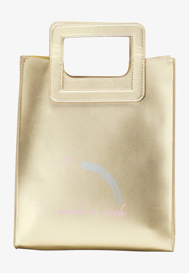 Kabelka - gold metallic