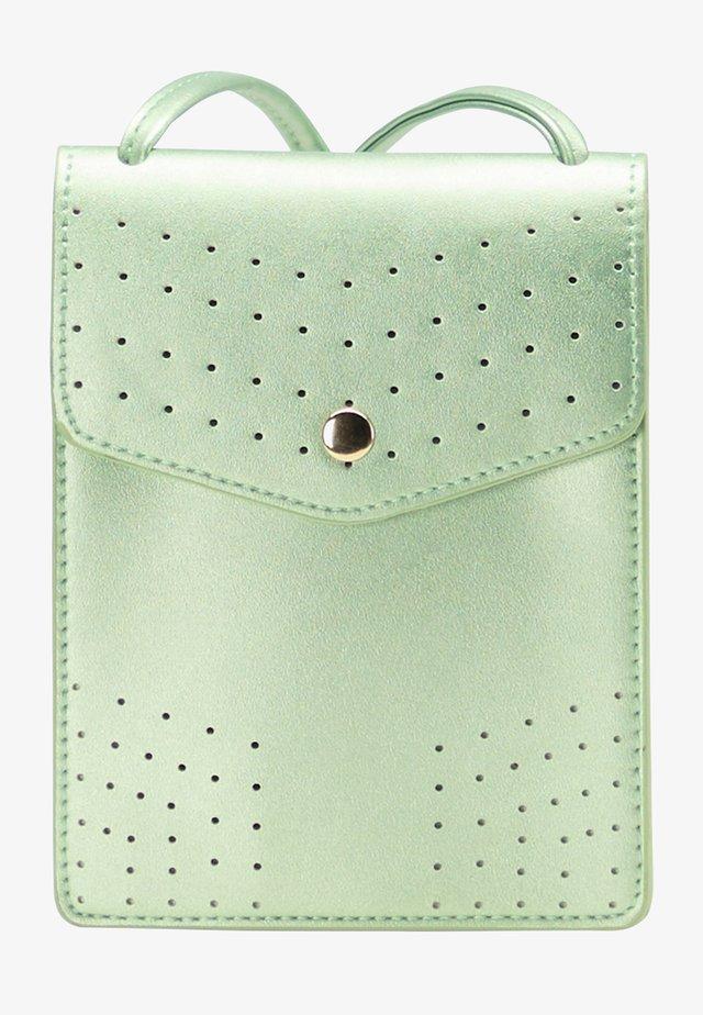 Taška spříčným popruhem - green metallic