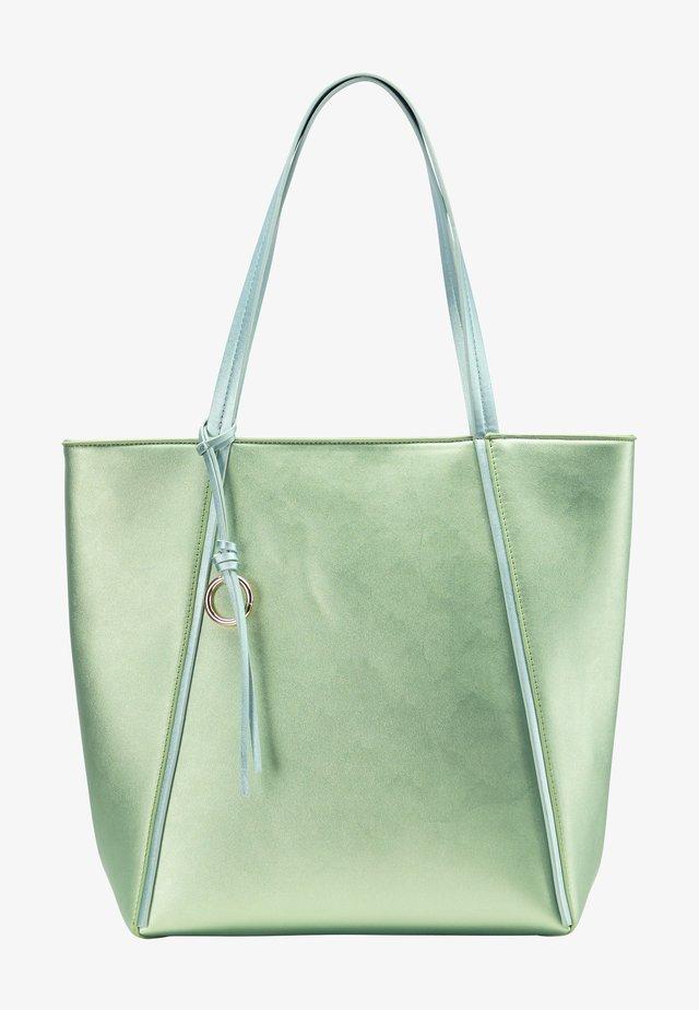 Shopping bag - green metallic