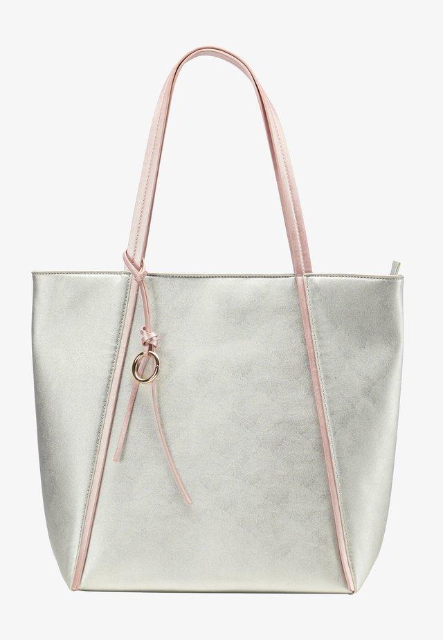 Velká kabelka - silver metallic