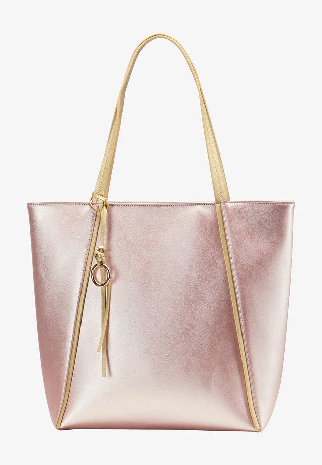 Shopping bag - pink metallic