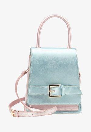 Handbag - blue metallic