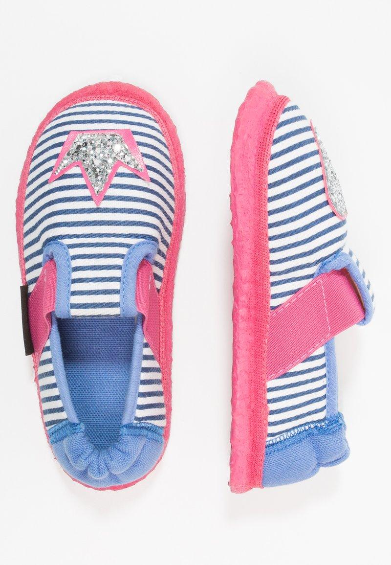 Nanga - HERZKLOPFEN - Domácí obuv - blau