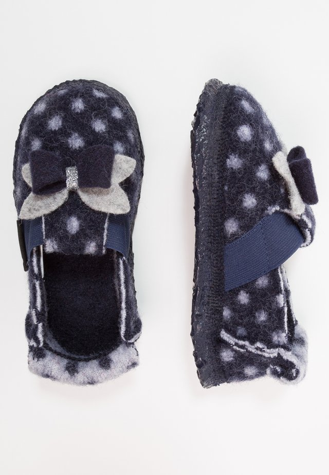LITTLE DOTTY - Slippers - dunkelblau