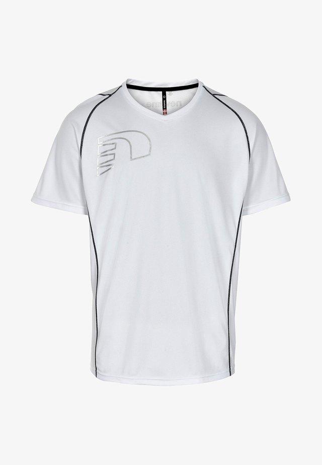 CORE COOLSKIN - Print T-shirt - white