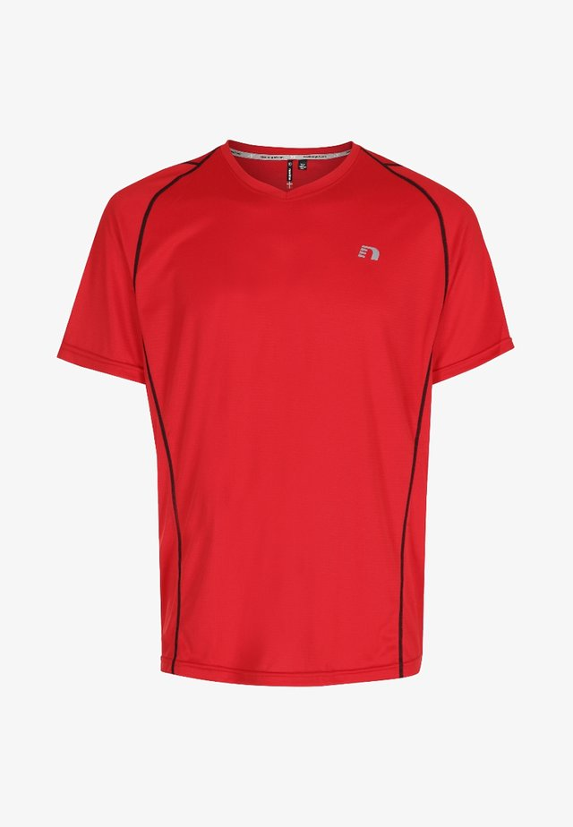 BASE COOLSKIN - T-shirt con stampa - red