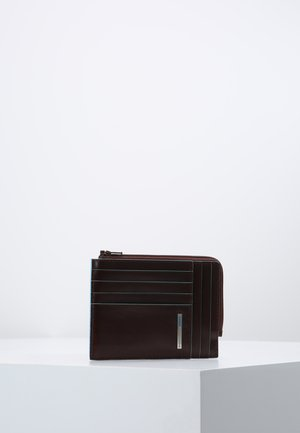 SQUARE ZIP WALLET - Portefeuille - mahogany