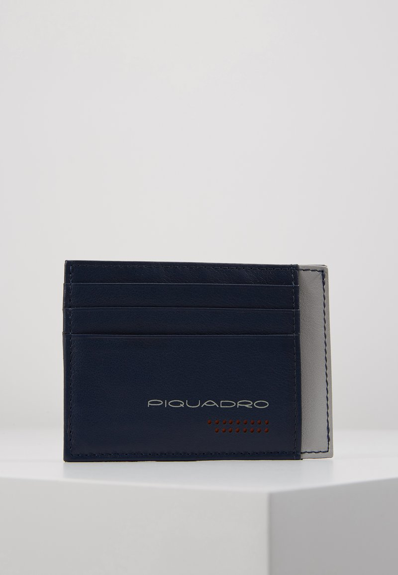 Piquadro - POCKET CREDIT CARD POUCH - Lommebok - navy/grey