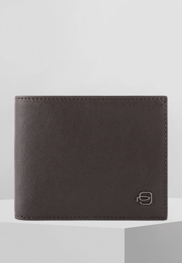 PIQUADRO BLACK SQUARE GELDBÖRSE LEDER 11 CM - Wallet - dark brown