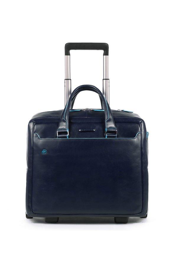 BLUE SQUARE 2-ROLLEN BUSINESSTROLLEY LEDER 36 CM LAPTOPFACH - Trolley - night blue
