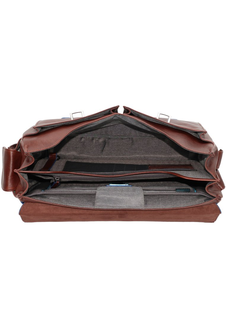 Piquadro Blue Square Aktentasche Leder 42 Cm Laptopfach - Ventiquattrore Dark Brown 1ZrxqT8