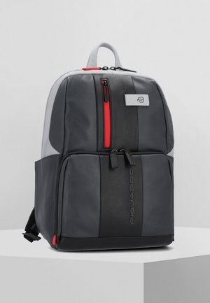 URBAN BUSINESSRUCKSACK LEDER 39 CM LAPTOPFACH - Reppu - grey black