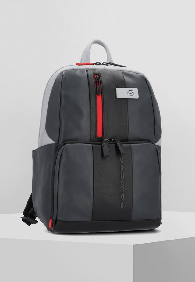 URBAN BUSINESSRUCKSACK LEDER 39 CM LAPTOPFACH - Rucksack - grey black