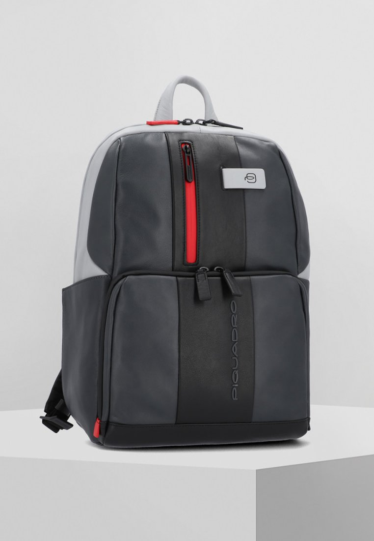 Piquadro - URBAN BUSINESSRUCKSACK LEDER 39 CM LAPTOPFACH - Reppu - grey black