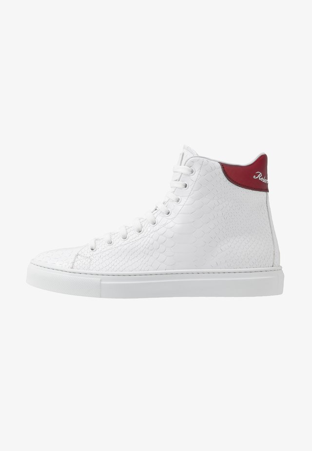 Korkeavartiset tennarit - white/red