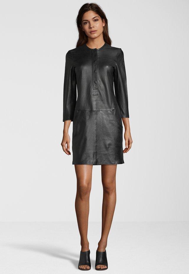 LEDERKLEID KAILA - Day dress - black