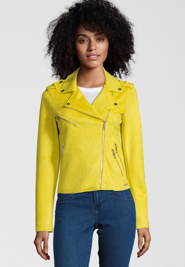 BALOU - Faux leather jacket - yellow