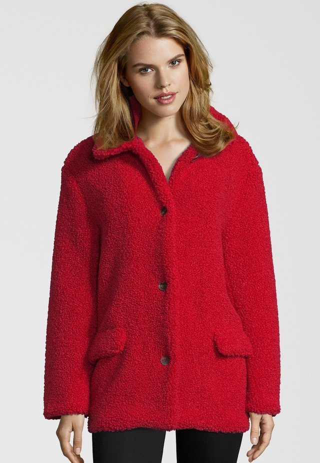 Winter coat - risky red